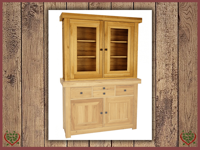 AUBUSSON OAK 2 DOOR GLAZED TOP ONLY | Paul Martyn Furniture UK