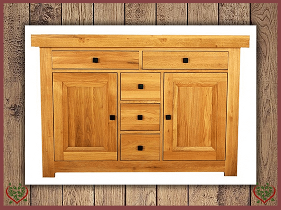 AUBUSSON OAK 2 DOOR SIDEBOARD DRESSER BASE | Paul Martyn Furniture UK