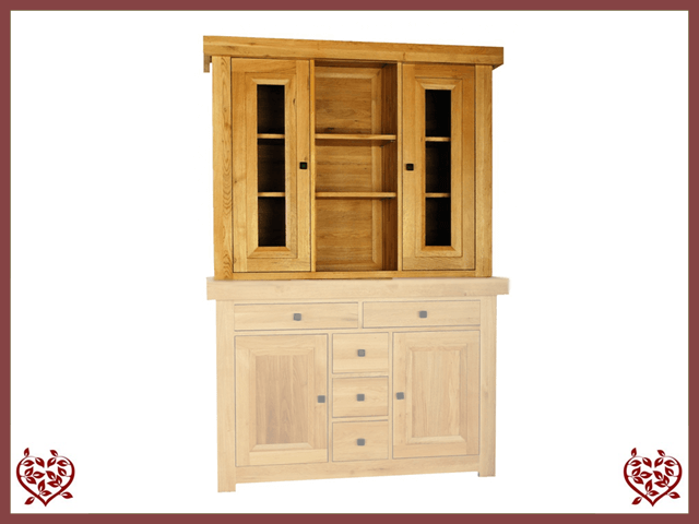 AUBUSSON OAK 2 DOOR DRESSER TOP - paul-martyn-furniture