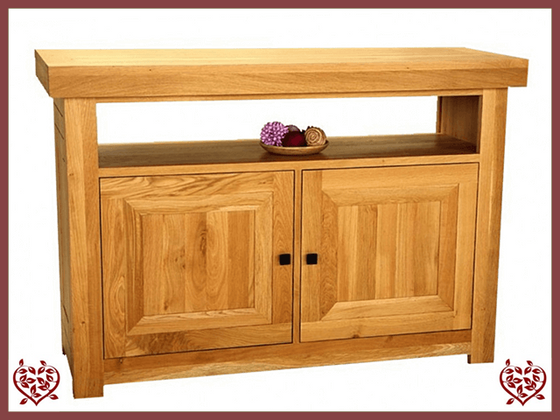 AUBUSSON OAK ENTERTAINMENT CABINET SIDEBOARD - paul-martyn-furniture