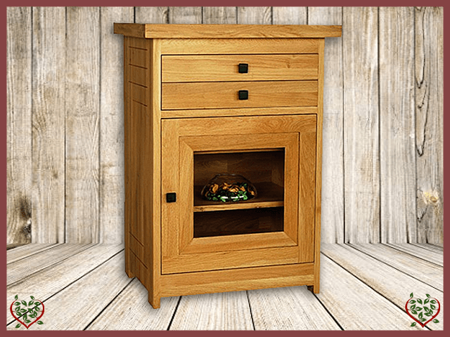 AUBUSSON OAK GLAZED HI-FI CABINET | Paul Martyn Furniture UK