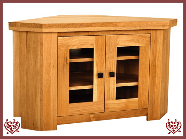 AUBUSSON OAK CORNER TV CABINET