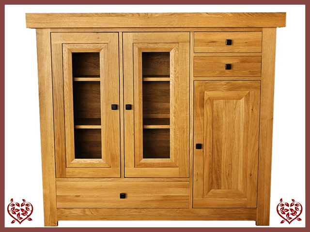 AUBUSSON OAK HIGHBOARD