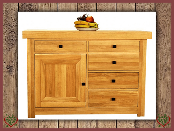 AUBUSSON OAK 1 DOOR 5 DRAWER SIDEBOARD | Paul Martyn Furniture UK