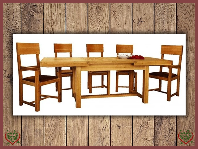 AUBUSSON OAK 1.5m EXTENDING DINING TABLE | Paul Martyn Furniture UK