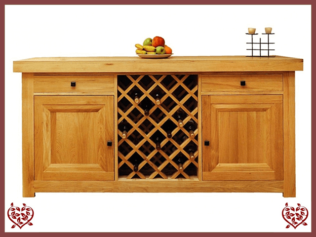AUBUSSON OAK SIDEBOARD WITH WINE RACK - 711280 | Paul Martyn Furniture UK