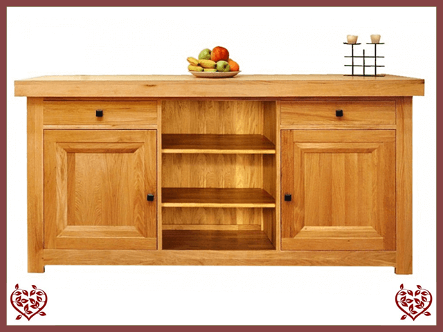 AUBUSSON OAK SIDEBOARD SIDE SERVER