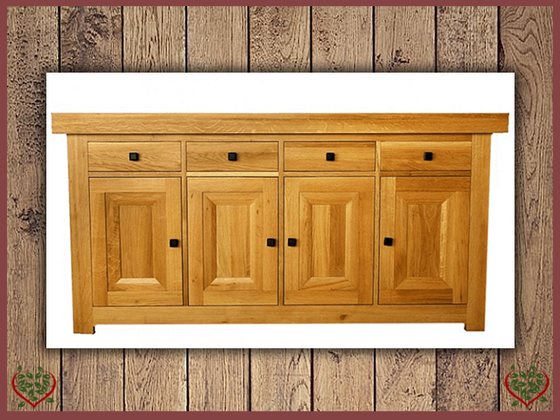 AUBUSSON OAK 4 DOOR SIDE BOARD SERVER | Paul Martyn Furniture UK