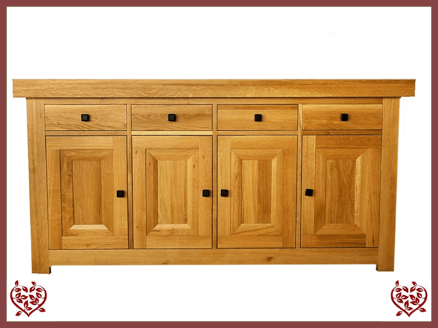 AUBUSSON OAK 4 DOOR SIDE BOARD SERVER