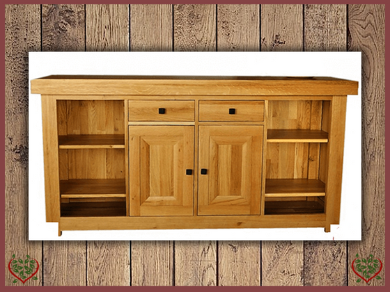 AUBUSSON OAK 2 DOOR/DRAWER SIDEBOARD | Paul Martyn Furniture UK