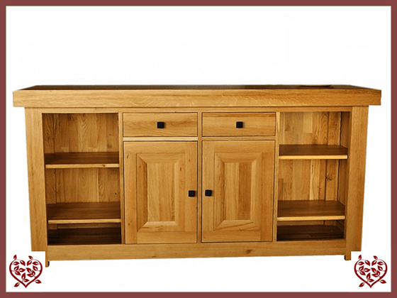 AUBUSSON OAK 2 DOOR/DRAWER SIDEBOARD