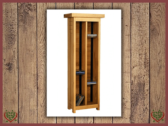 AUBUSSON OAK CD STORAGE UNIT | Paul Martyn Furniture UK