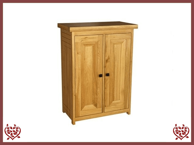 AUBUSSON OAK STORAGE CABINET CUPBOARD - paul-martyn-furniture