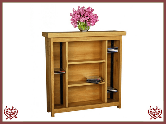 AUBUSSON OAK CD/DVD CABINET - paul-martyn-furniture