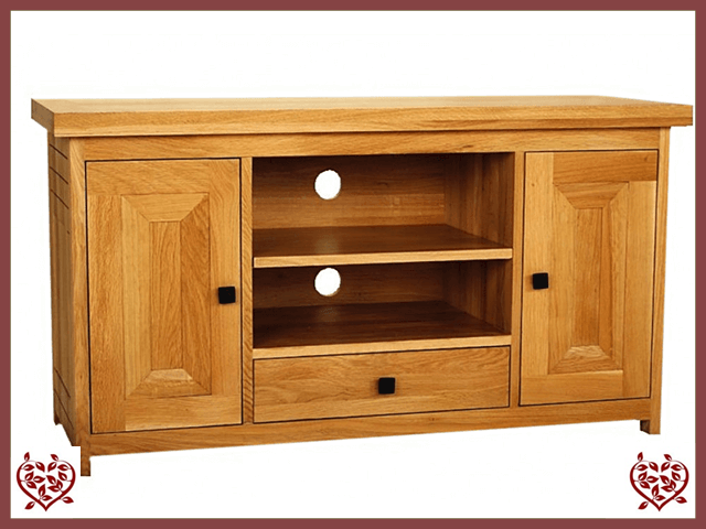 AUBUSSON OAK WIDESCREEN TV CABINET - paul-martyn-furniture
