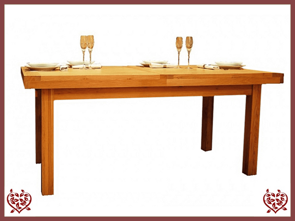AUBUSSON OAK 1.5M EXTENDING DINING TABLE