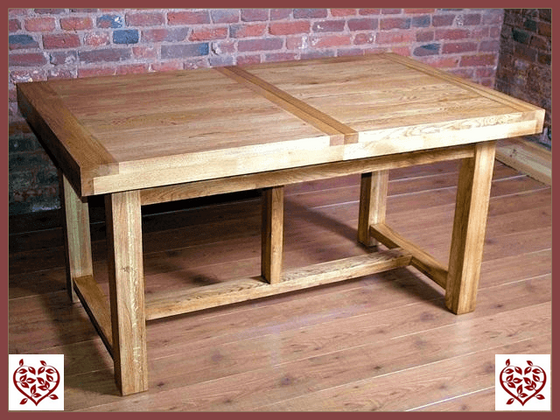 AUBUSSON OAK 1.8M EXTENDING DINING TABLE | Paul Martyn Furniture UK