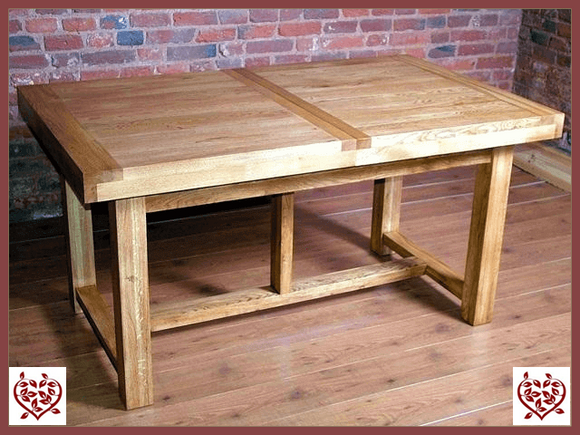 AUBUSSON OAK 1.8M EXTENDING DINING TABLE