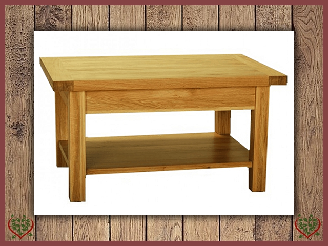 AUBUSSON OAK SMALL COFFEE TABLE | Paul Martyn Furniture UK