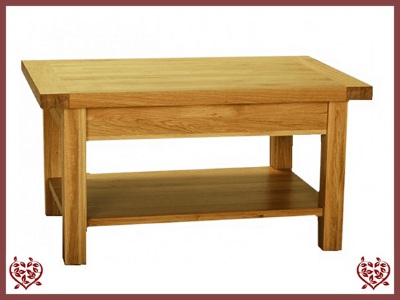 AUBUSSON OAK SMALL COFFEE TABLE - paul-martyn-furniture