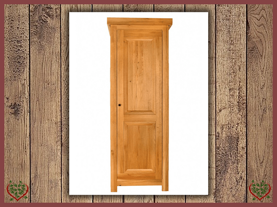 AUBUSSON OAK 1 DOOR WARDROBE