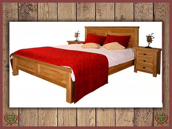 AUBUSSON 5FT KING SIZE OAK BED (LOW FOOTBOARD) | Paul Martyn Furniture UK