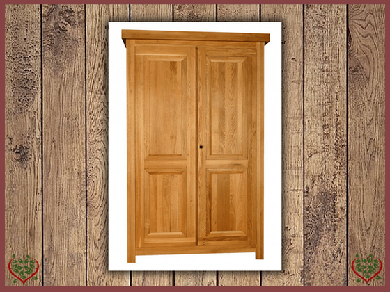 AUBUSSON OAK 2 DOOR WARDROBE | Paul Martyn Furniture UK