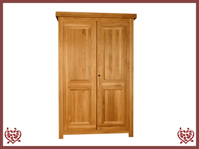 AUBUSSON OAK 2 DOOR WARDROBE - paul-martyn-furniture