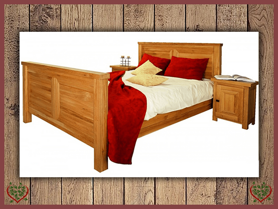 AUBUSSON 5FT KING SIZED OAK BED (HIGH FOOTBOARD) | Paul Martyn Furniture UK