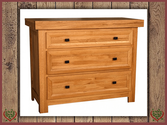 AUBUSSON OAK 3 DRAWER CHEST | Paul Martyn Furniture UK