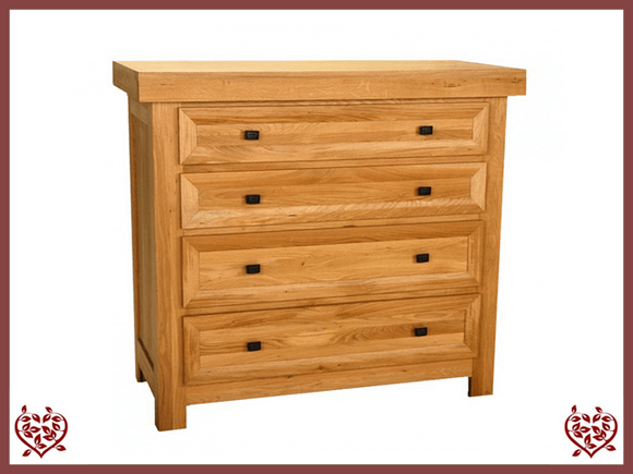 AUBUSSON OAK 4 DRAWER CHEST