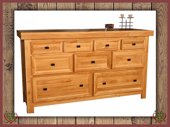 AUBUSSON 9 DRAWER OAK CHEST Paul Martyn Furniture UK