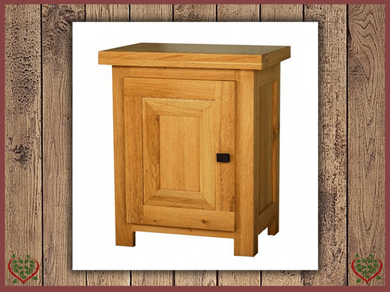 AUBUSSON OAK BEDSIDE CABINET (LEFT HINGE) Paul Martyn Furniture UK