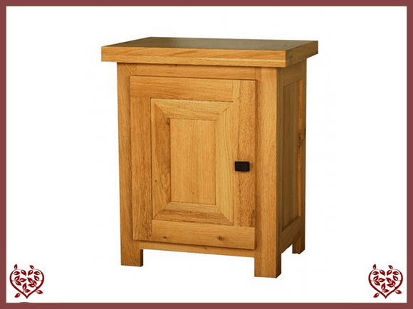 AUBUSSON OAK BEDSIDE CABINET (LEFT HINGE) - paul-martyn-furniture