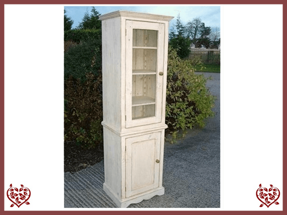 SHABBY CHIC TALL SINGLE DISPLAY CABINET