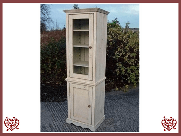 SHABBY CHIC TALL SINGLE DISPLAY CABINET - paul-martyn-furniture