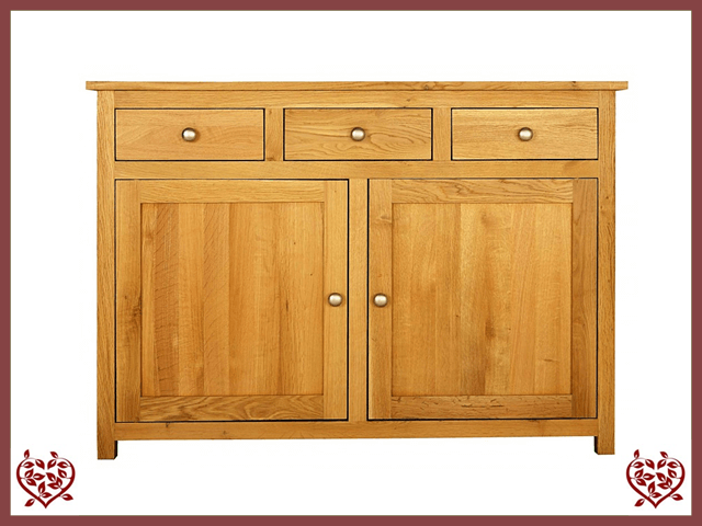 ELEGANCE OAK SIDEBOARD 2 DOORS/3 DRAWERS