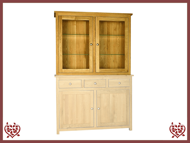 ELEGANCE OAK CABINET TOP ONLY 2 DOORS | Paul Martyn Furniture UK