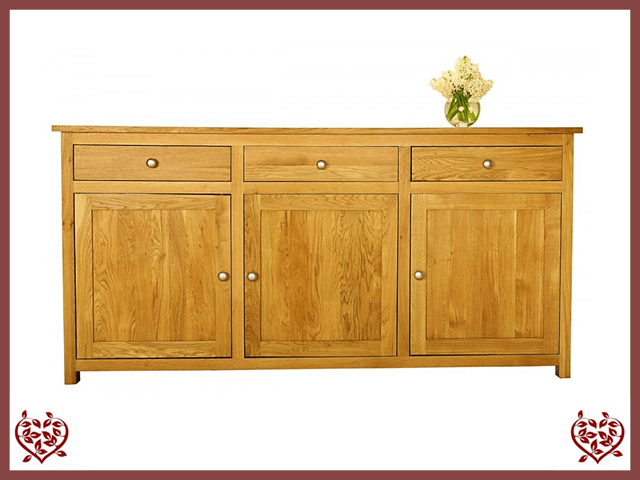 ELEGANCE OAK SIDEBOARD, 3 DOORS/3 DRAWERS