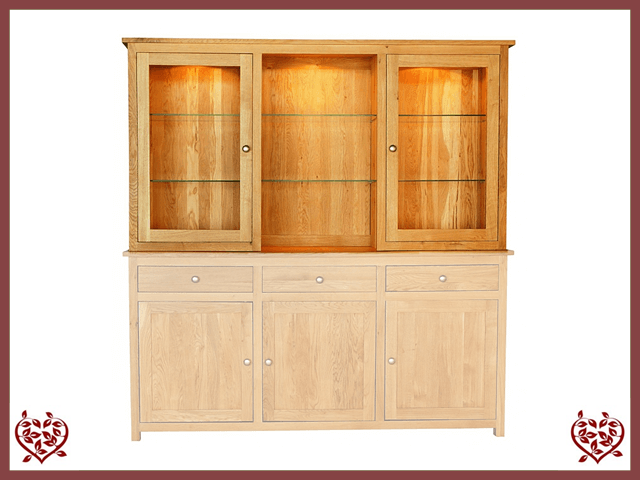 ELEGANCE OAK CABINET TOP ONLY 2 DOORS - paul-martyn-furniture