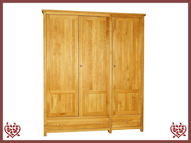 ELEGANCE OAK WARDROBE 3 DOORS/2 DRAWERS