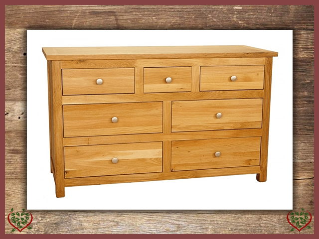 ELEGANCE OAK CHEST – 7 DRAWERS | Paul Martyn Furniture UK