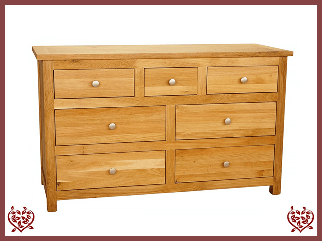 ELEGANCE OAK CHEST – 7 DRAWERS - paul-martyn-furniture
