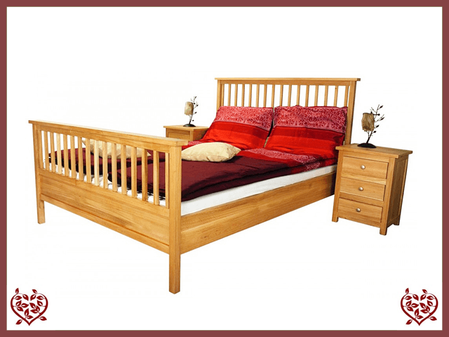 ELEGANCE OAK BED – HIGH FOOTBOARD | Paul Martyn Furniture UK