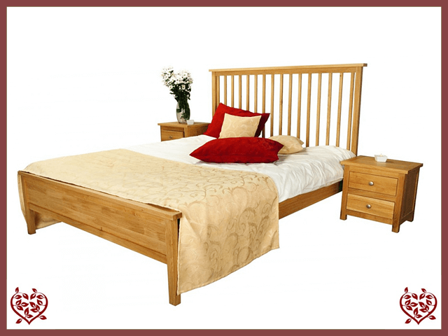 ELEGANCE OAK BED – LOW FOOTBOARD