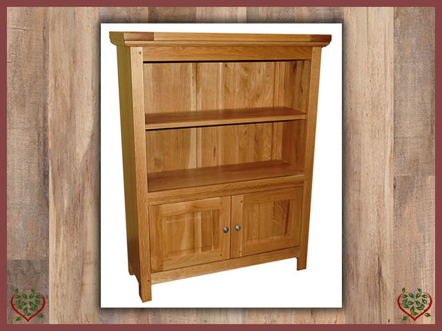 MATLOCK SMALL 2 DOOR BOOKCASE | Paul Martyn Furniture UK