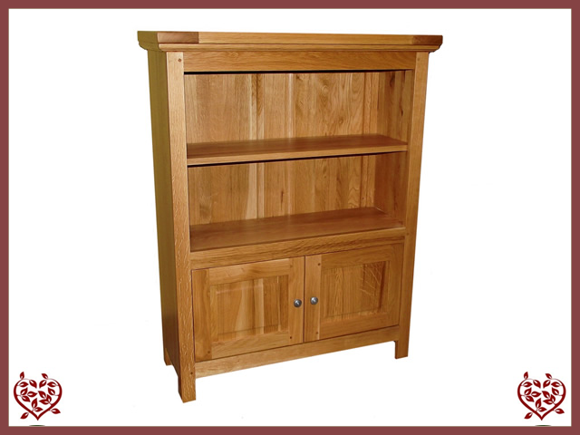 MATLOCK SMALL 2 DOOR BOOKCASE - paul-martyn-furniture