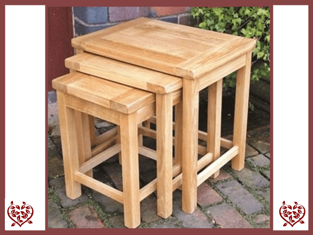MATLOCK OAK NEST OF TABLES - paul-martyn-furniture