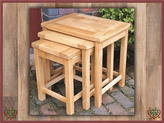 MATLOCK OAK NEST OF TABLES Paul Martyn Furniture UK