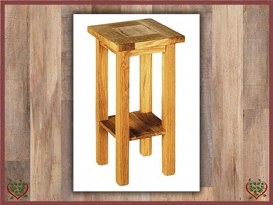 MATLOCK OAK LOW PLANT OR LAMP STAND | Paul Martyn Furniture UK